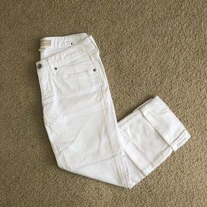 Banana Republic cropped white jean, 2/26